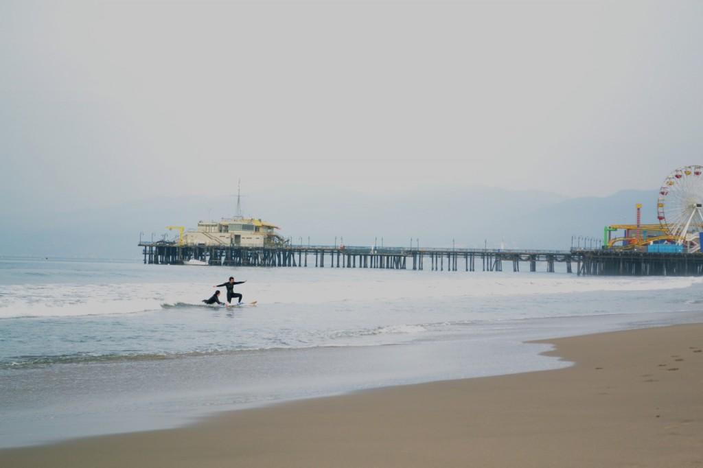 Bay Street Surfing: Santa Monica Pier
